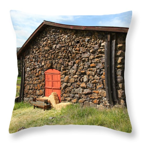 Jack London Stallion Barn 5D22104 Throw Pillow by Wingsdomain Art and Photography