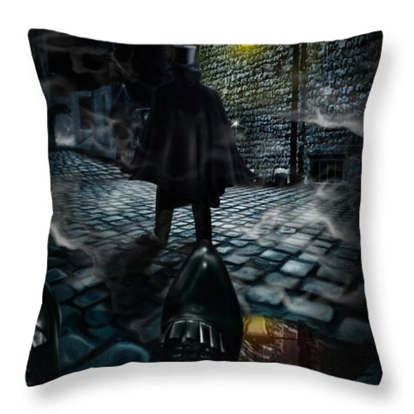 Jack the ripper Throw Pillow by Alessandro Della Pietra