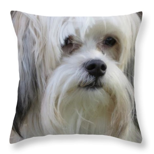 Jack's Bad Hair Day Throw Pillow by Ella Kaye Dickey