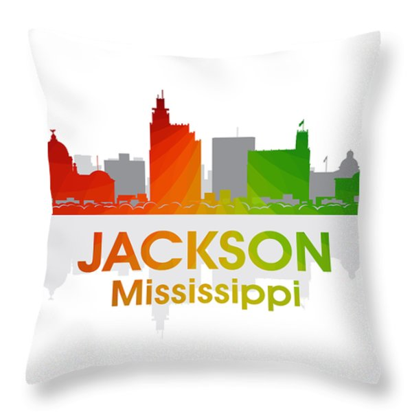 Jackson MS Throw Pillow by Angelina Vick