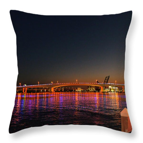Jacksonville Acosta Bridge Throw Pillow by Christine Till
