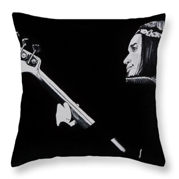 Jaco Throw Pillow by Brian Broadway
