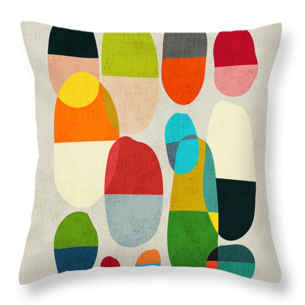 Jagged little pills Throw Pillow by Budi Satria Kwan