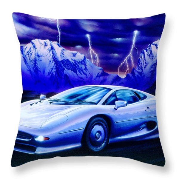 Jaguar 220 Throw Pillow by Garry Walton