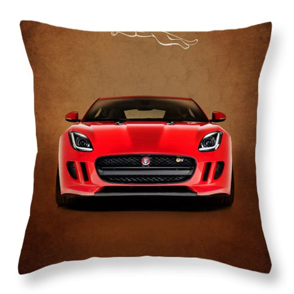 Jaguar F Type Throw Pillow by Mark Rogan