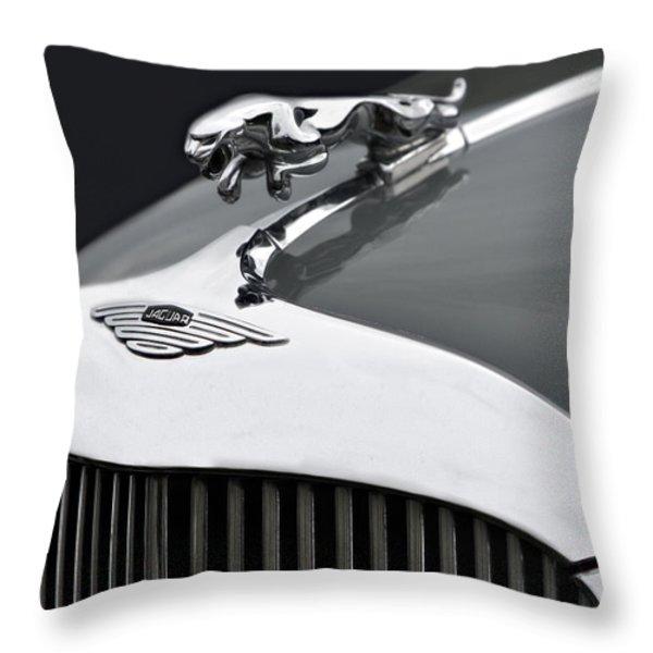 Jaguar Mk Ix Hood Throw Pillow by Susan Candelario