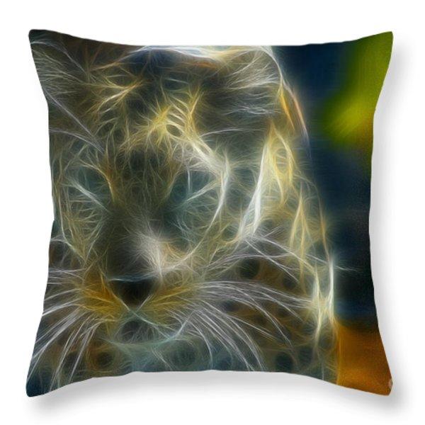 Jaguar208-fractal Throw Pillow by Gary Gingrich Galleries