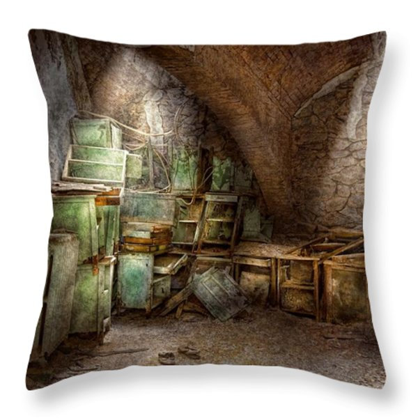 Jail - Eastern State Penitentiary - Cabinet members  Throw Pillow by Mike Savad