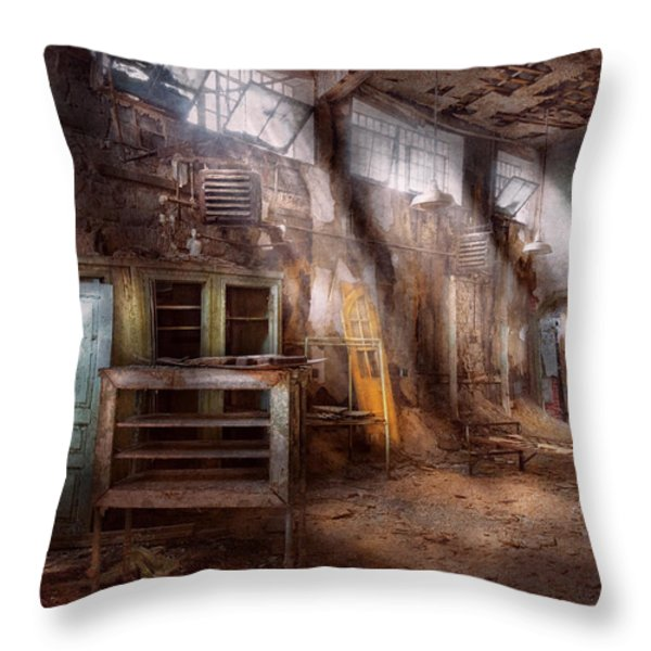 Jail - Eastern State Penitentiary - Sick Bay Throw Pillow by Mike Savad