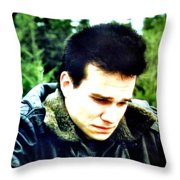 James Throw Pillow by Luis Ludzska
