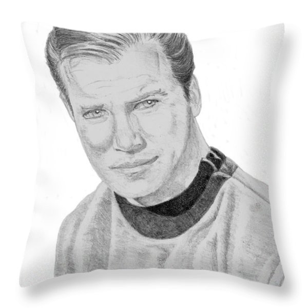 James Tiberius Kirk Throw Pillow by Thomas J Herring