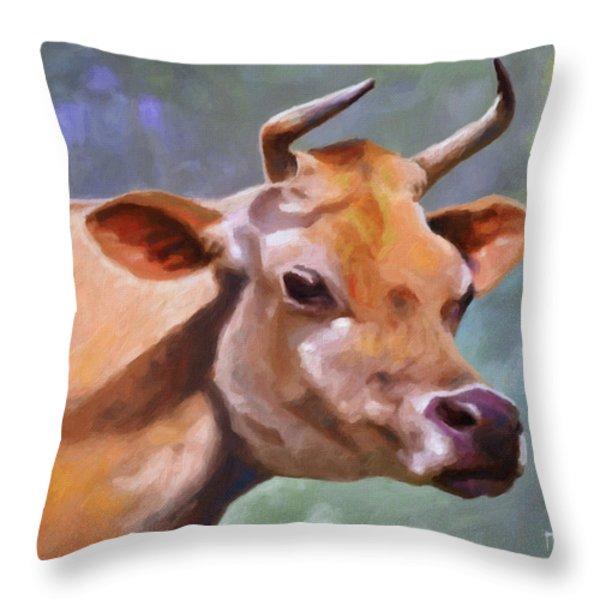 Jane Throw Pillow by Anthony Mwangi