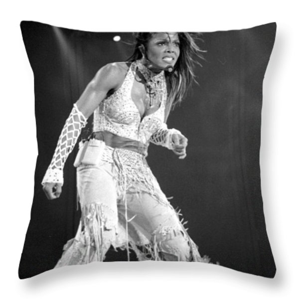Janet 054 Throw Pillow by Timothy Bischoff