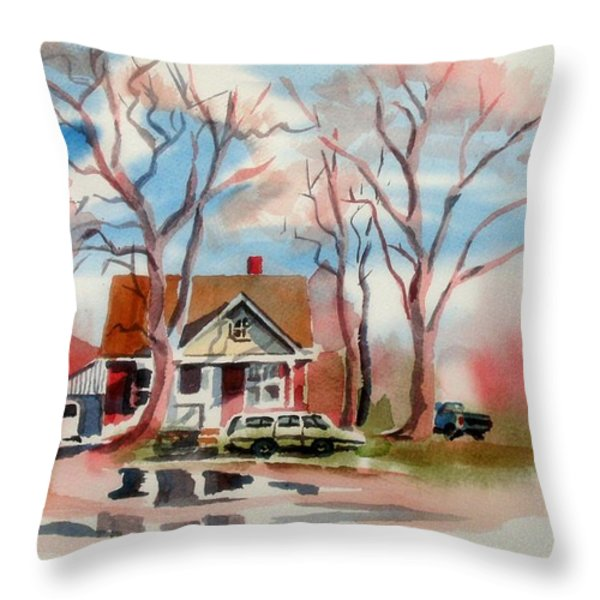 January Afternoon Throw Pillow by Kip DeVore