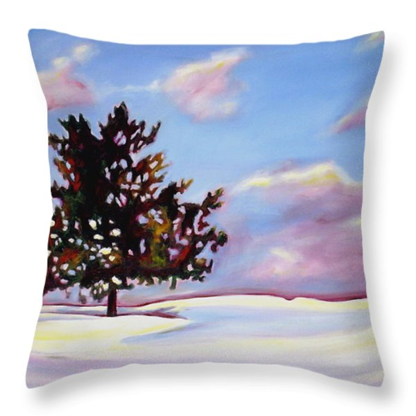 January Throw Pillow by Sheila Diemert