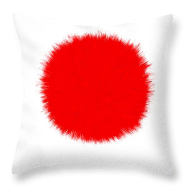 Japan Flag Throw Pillow by Daniel Hagerman