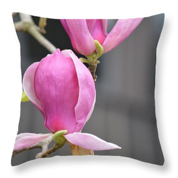 Japanese Magnolia Throw Pillow by Sonali Gangane