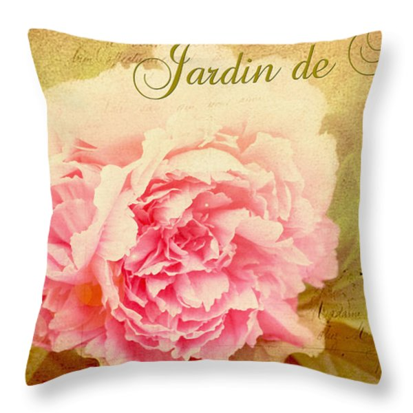 Jardin De Fleurs Throw Pillow by Trina  Ansel
