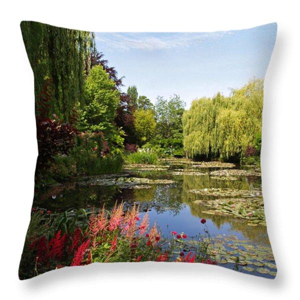 Jardin D'eau Throw Pillow by Alex Cassels