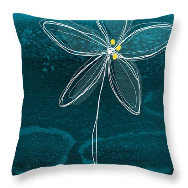 Jasmine Flower Throw Pillow by Linda Woods