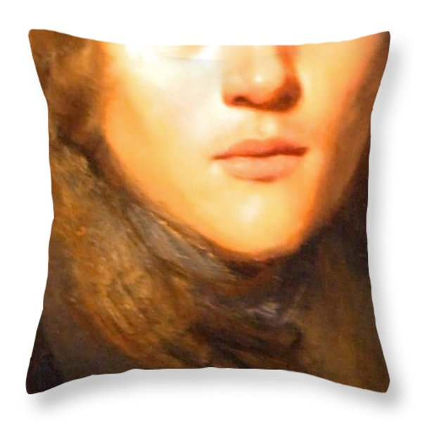 Jay Lievens Self Portrait Up Close Throw Pillow by Cora Wandel