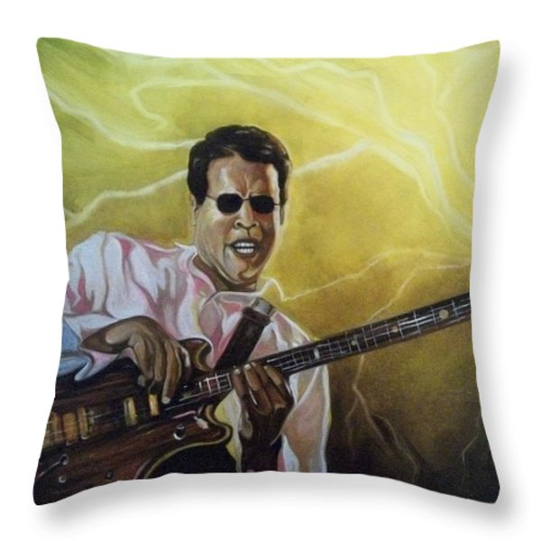 Jazz Throw Pillow by Emery Franklin