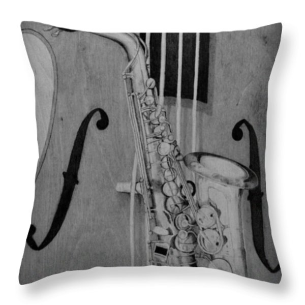 Jazz Is The Color Throw Pillow by Laurisa Borlovan