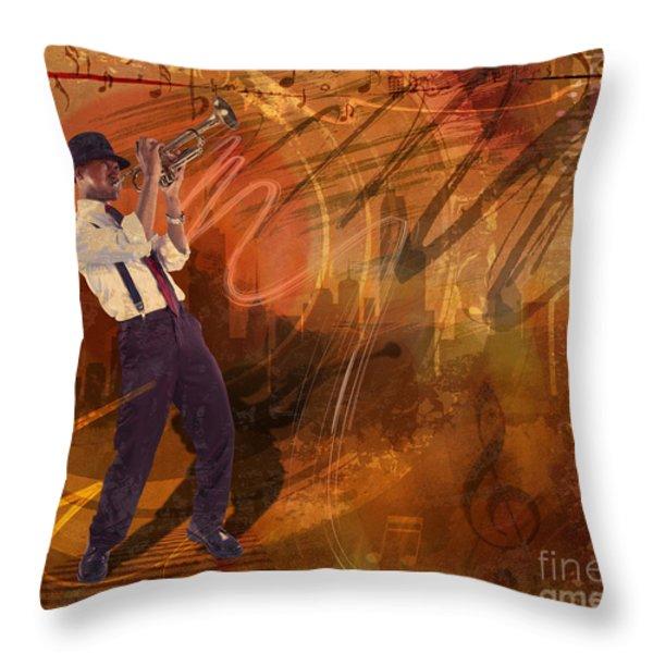 Jazz Nrg Throw Pillow by Bedros Awak