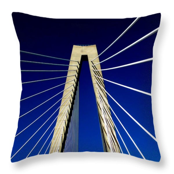 Jazz Of Charleston Throw Pillow by Karen Wiles