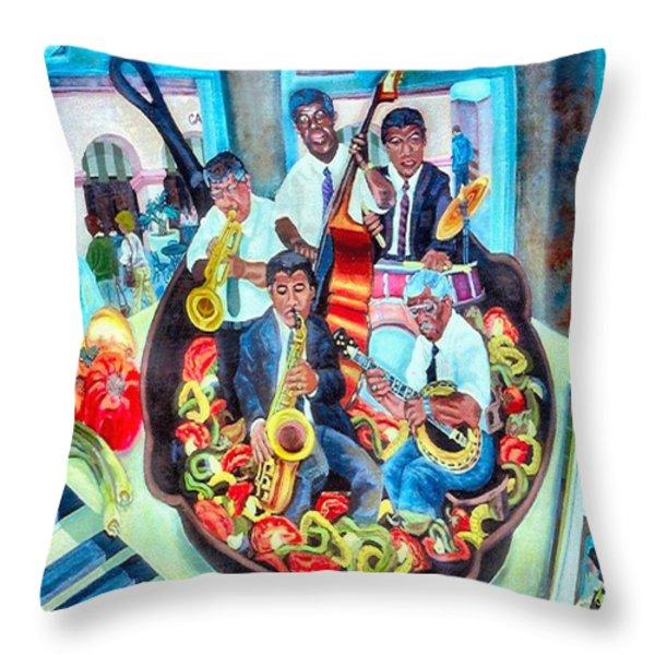 Jazz Saute' Throw Pillow by Lisa Tygier Diamond