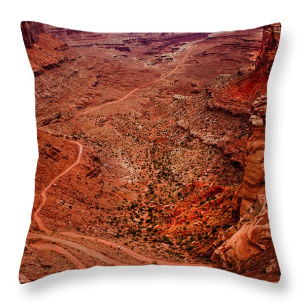 Jeep Trails Throw Pillow by Robert Bales