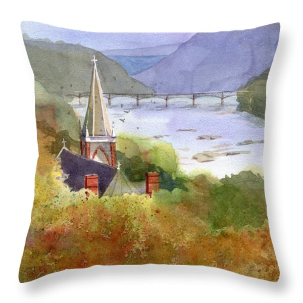 Jeffersons View Throw Pillow by Kris Parins