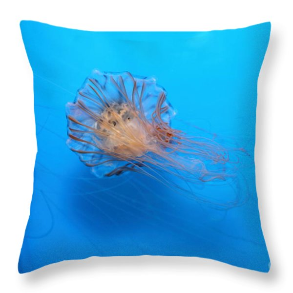 Jelly Fish 5D24944 Throw Pillow by Wingsdomain Art and Photography