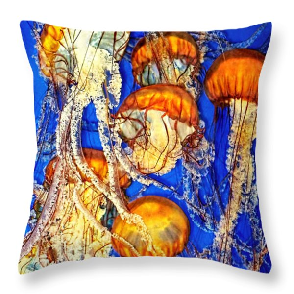 Jellywish Throw Pillow by Jennie Breeze