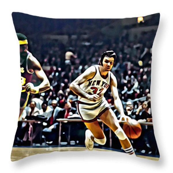 Jerry Lucas Throw Pillow by Florian Rodarte