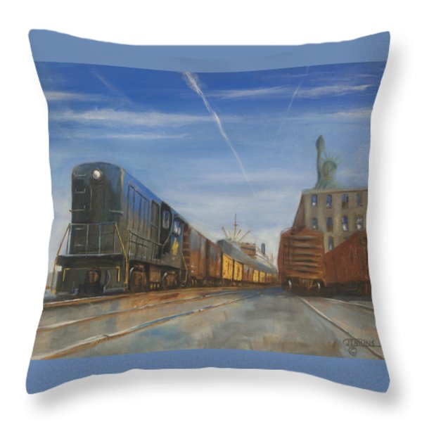 Jersey Central Lines Throw Pillow by Christopher Jenkins