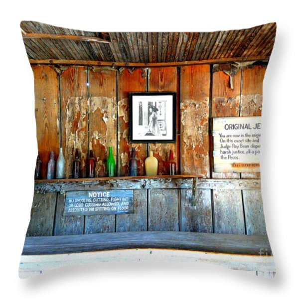 Jersey Lilly Saloon Throw Pillow by Avis  Noelle