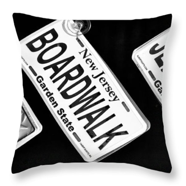 Jersey Shore Essentials Throw Pillow by John Rizzuto