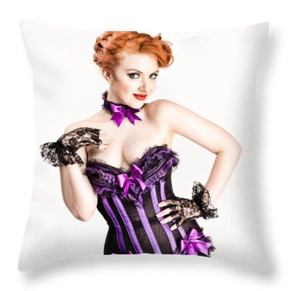 Jessamyn Defying Gravity Throw Pillow by Gary Heller