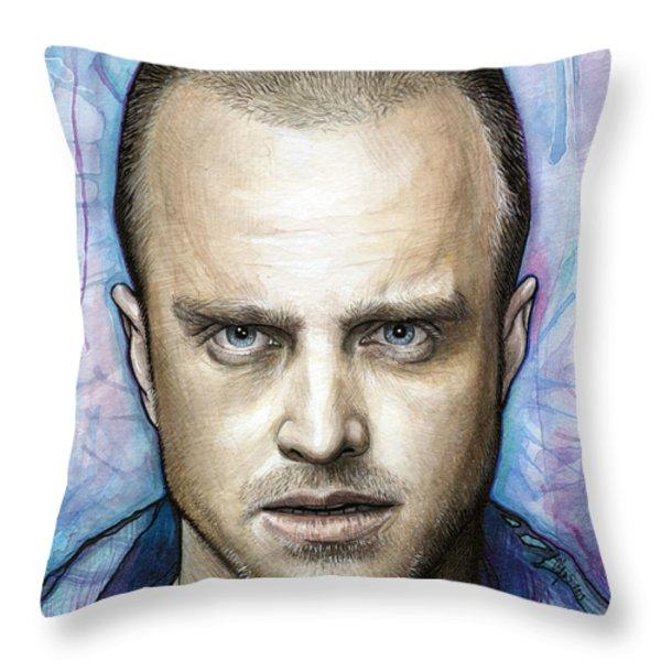 Jesse Pinkman - Breaking Bad Throw Pillow by Olga Shvartsur