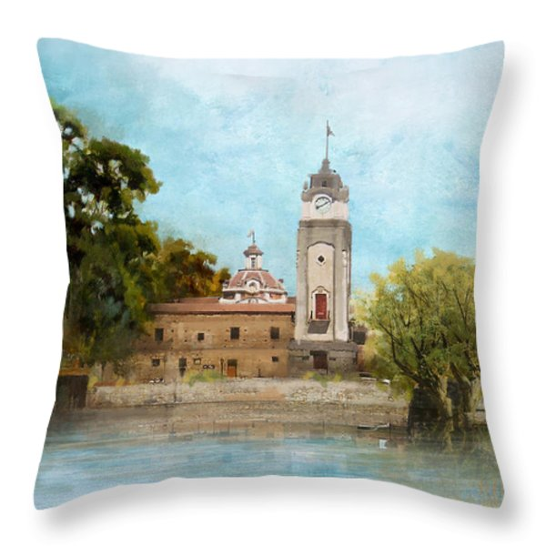 Jesuit Block And Estancias Of Cordoba Throw Pillow by Catf