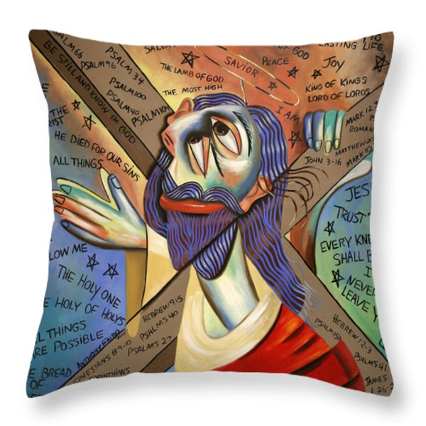 Jesus Throw Pillow by Anthony Falbo