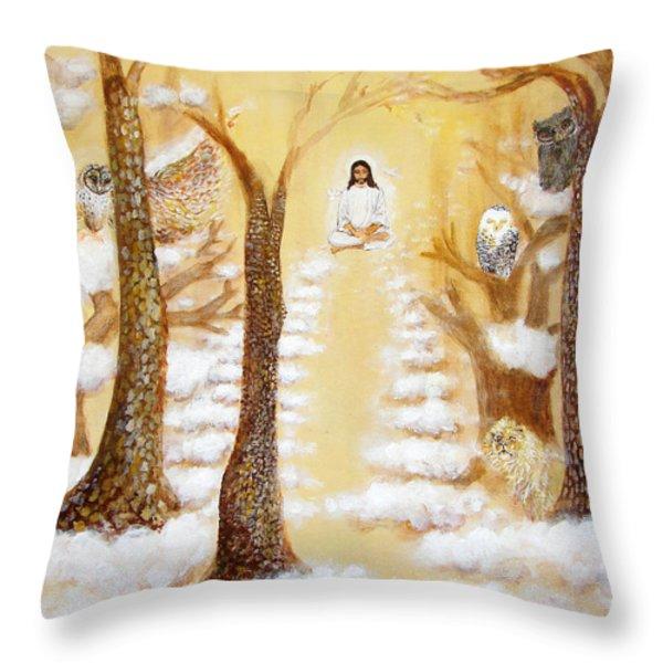 Jesus Art - The Christ Childs Asleep Throw Pillow by Ashleigh Dyan Bayer