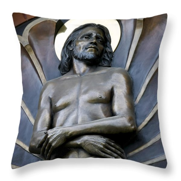 JESUS CATHEDRAL ICON -  SPOKANE WASHINGTON Throw Pillow by Daniel Hagerman