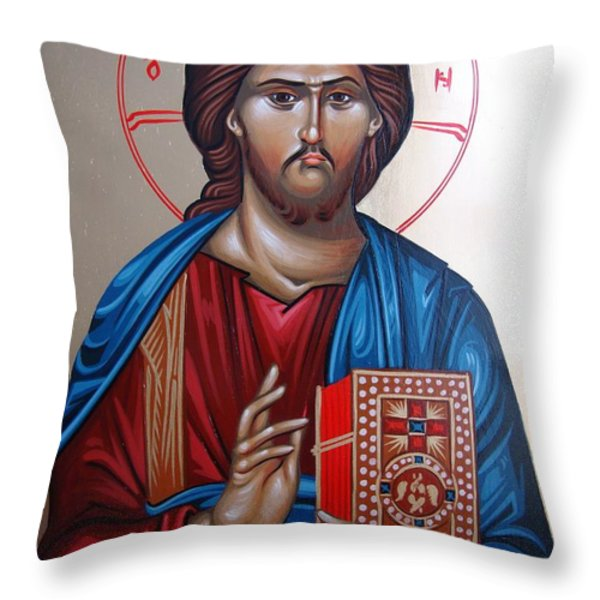 Jesus Christ Our Savior Throw Pillow by Gianfranco Weiss