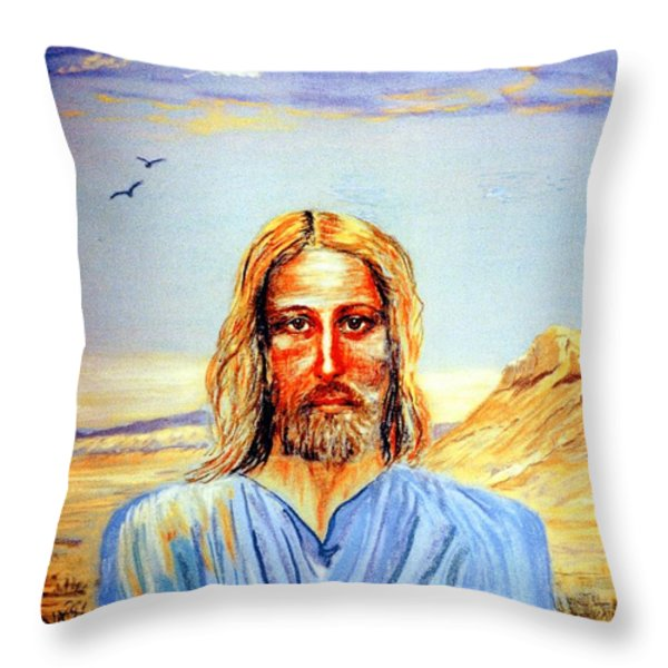 Jesus Throw Pillow by Jane Small