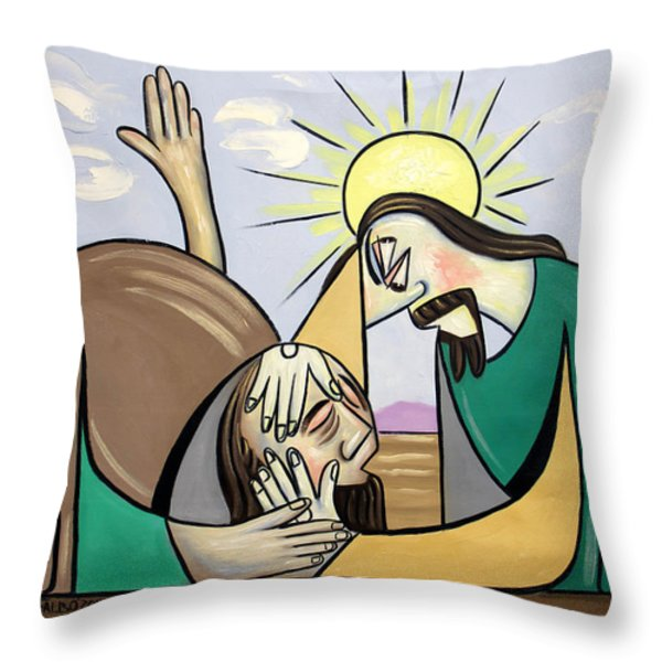 Jesus Will Meet You Where You Are Throw Pillow by Anthony Falbo