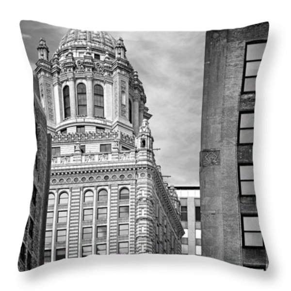 Jewelers' Building - 35 East Wacker Chicago Throw Pillow by Christine Till