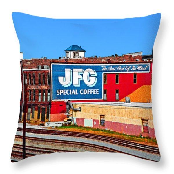 Jfg Coffee Throw Pillow by Steven  Michael