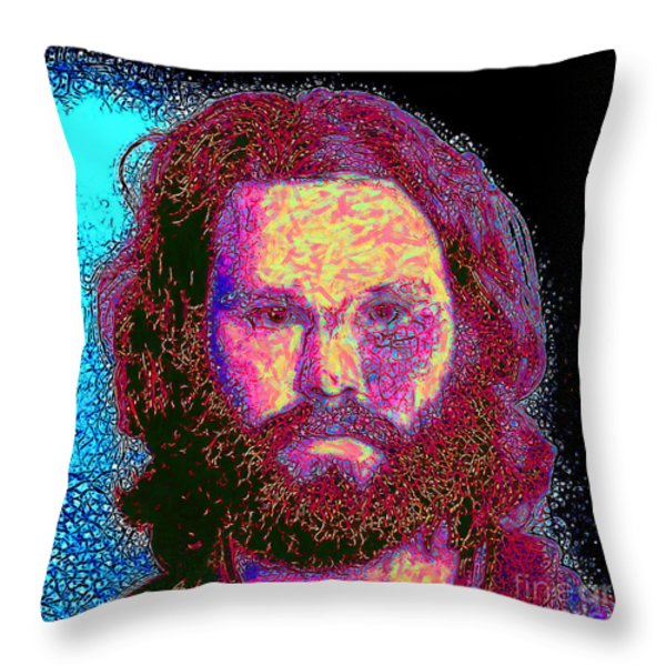 Jim Morrison 20130329 Square Throw Pillow by Wingsdomain Art and Photography